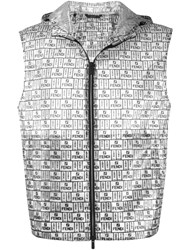Fendi Box Logo Pattern Gilet Grey