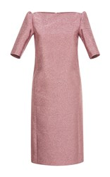 Rossella Jardini Short Sleeve Midi Pencil Dress Pink