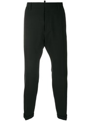 Dsquared2 Mid Rise Tapered Trousers Black