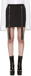 Hood By Air Black Double Zip Miniskirt