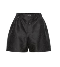 Miu Miu Silk Blend Jacquard Shorts Black
