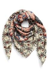 Sole Society Baroque Pattern Wrap Scarf Pink Multi
