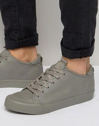 Asos Lace Up Trainers In Block Grey Grey
