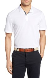 Ag Jeans Men's The Berrian Pique Polo Bright White