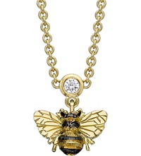 Theo Fennell Bee 18Ct Yellow Gold And Diamond Drop Necklace