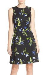 Women's Marc New York Floral Print Scuba Fit And Flare Dress