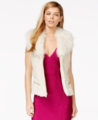 Guess Faux Fur Mixed Media Vest