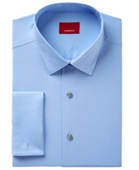 Alfani Men's Classic Fit Performance Stretch Easy Care Solid Dress Shirt Created For Macy's Light Blue