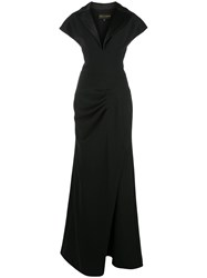 Christian Siriano Tuxedo Ruched Gown 60