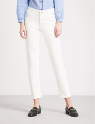 Claudie Pierlot Straight Cropped Mid Rise Jeans Cream