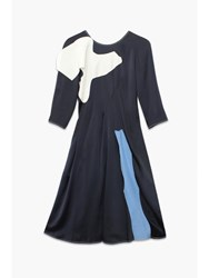 Rejina Pyo Navy Tara Raglan Sleeve Dress Blue