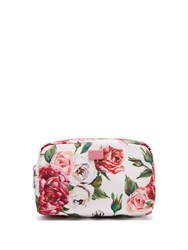 Dolce And Gabbana Floral Print Make Up Bag Pink White