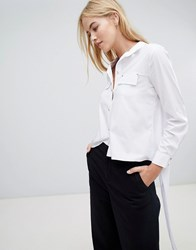 Forever Unique Blouse With Tie Back White