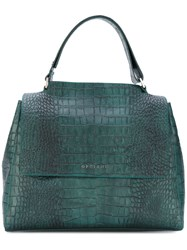Orciani Boxy Tote Women Leather One Size Green