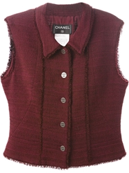 Chanel Vintage Buttoned Waistcoat Pink And Purple