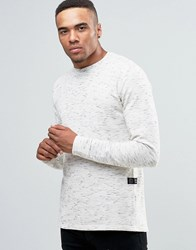 Solid Spacedye Knitted Jumper White