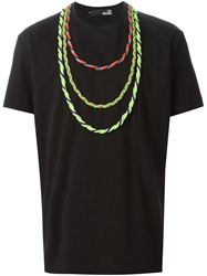 Love Moschino Braided Rope Necklace T Shirt