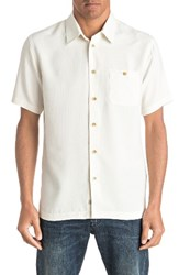 Quiksilver Men's Waterman Collection Marlin Textured Shirt Pristine