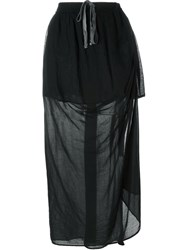 Lost And Found Rooms Long Draped Skirt Black