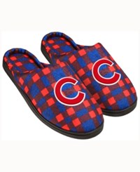 Forever Collectibles Chicago Cubs Flannel Slide Slippers Blue