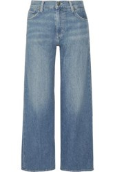 Vince High Rise Wide Leg Jeans Mid Denim