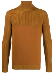 Roberto Collina Roll Neck Fitted Sweater Brown