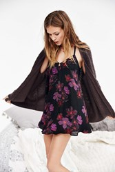 Out From Under Michelle Dobby Slip Dress Black