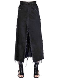 Damir Doma Denim Cotton Midi Skirt