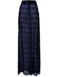 Scanlan Theodore Feather Tinsel Skirt Blue
