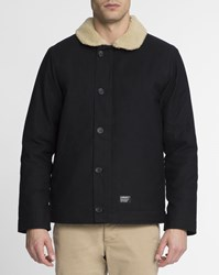Carhartt Black Sheffield Zip Up Jacket With Sherpa Collar