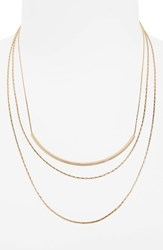 Panacea Women's Layered Chain Necklace Gold