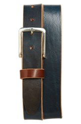 Men's Big And Tall Remo Tulliani 'Oscar' Leather Belt Blue