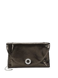 Halston Textured Shoulder Bag Antique Silver