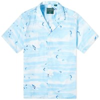 Gitman Brothers Vintage Camp Collar Rockaway Beach Shirt Blue