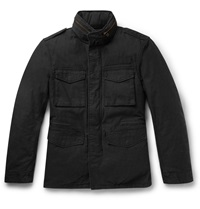 Beams Plus Cotton Canvas Down Jacket With Detachable Layer Black