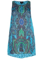 Live Unlimited Plus Size Paisley Hi Lo Tunic Multi Coloured
