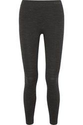 Falke Ergonomic Sport System Technical Stretch Wool Blend Leggings Black
