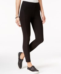 Material Girl Quilt Detailed Leggings Only At Macy's Caviar Black