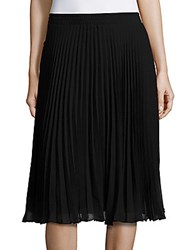Max Studio Solid Pleated Skirt Black