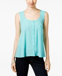 Styleandco. Style And Co. Swing Tank Blouse Only At Macy's Pacific Aqua