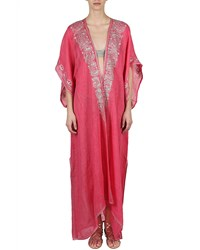 Flora Bella Xanadu Embroidered Long Coverup Kimono Begonia