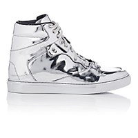Balenciaga Women's High Top Sneakers Silver