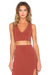 Samandlavi Pheobe Crop Top Rust