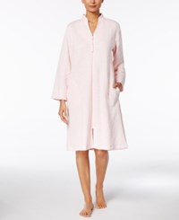 Miss Elaine Quilted Knit Robe Blush