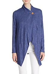 Bobeau One Button Cardigan Denim
