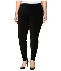 Michael Michael Kors Plus Size Stretch Corduroy Leggings Black Women's Casual Pants