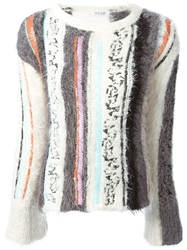 Aviu Sequin Embellished Sweater White