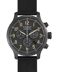 Filson The Mackinaw Field Chronograph Rubber Strap Watch 43Mm Gray