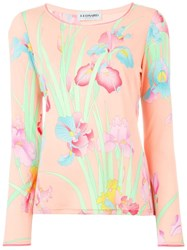 Leonard Orchid Print Top Pink And Purple