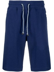 Brunello Cucinelli Jersey Shorts Blue